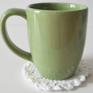 Little Dots Coaster f Free Crochet Pattern by Underground Crafter for CrochetNCrafts