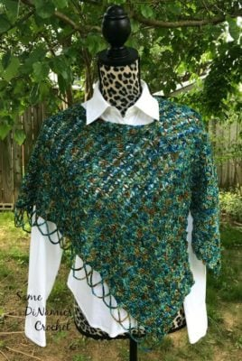 Meadowland Shoulder Wrap by Same DiNamics Crochet