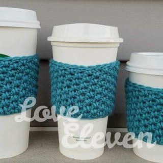 Crocheted Crane Coffee Sleeves