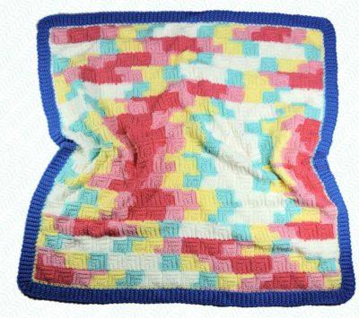 Patchwork Baby Blanket by CrochetKim