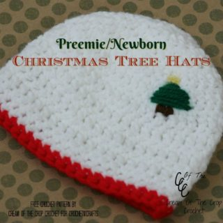 Preemie/Newborn Christmas Tree Hats ~ FREE Crochet Pattern by Cream Of The Crop Crochet