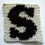 S – Uppercase and Lowercase Tapestry Block ~ FREE Crochet Pattern