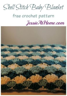 Shell Stitch Baby Blanket by Jessie At Home