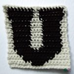 U – Uppercase Tapestry Crochet Block