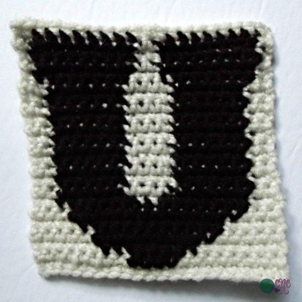 U - Uppercase Tapestry Crochet Block ~ FREE Crochet Pattern