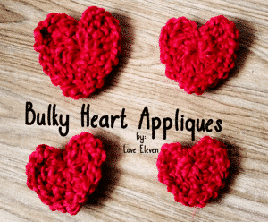 Bulky Heart Appliques