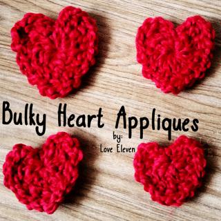 Bulky Heart Appliques