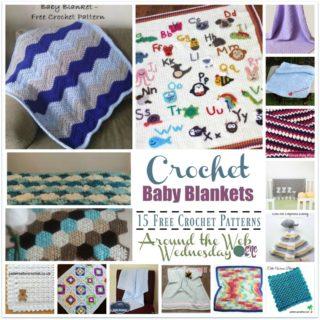 Crochet Baby Blankets ~ 15 FREE Crochet Patterns