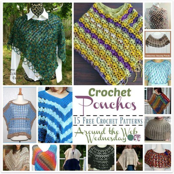 Crochet Ponchos ~ 15 FREE Crochet Patterns