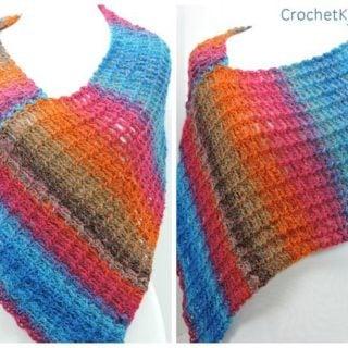 Stripey Poncho by CrochetKim