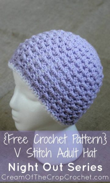 V-Stitch Hat by Cream Of The Crop Crochet