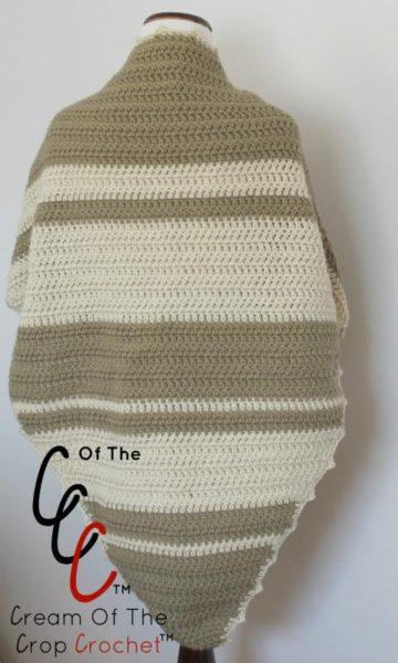 Simple Striped Shawl ~ An Elegant Crochet Pattern by Cream Of The Crop Crochet
