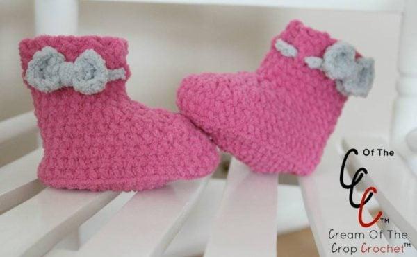 Crochet Baby Booties by Cream Of The Crop Crochet