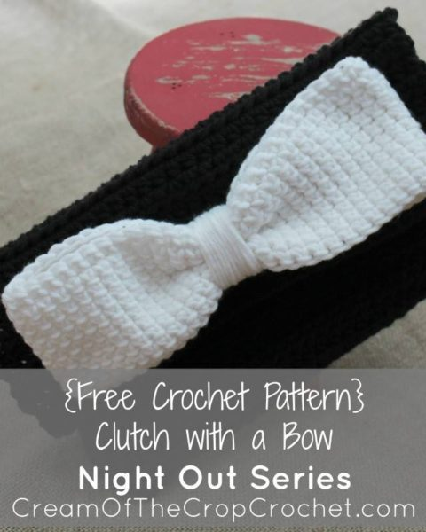 Clutch with a Bow ~ FREE Crochet Pattern by Cream Of The Crop Crochet