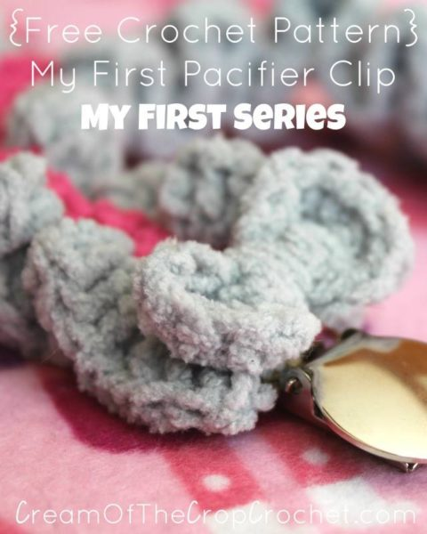 Pacifier Clip by Cream Of The Crop Crochet