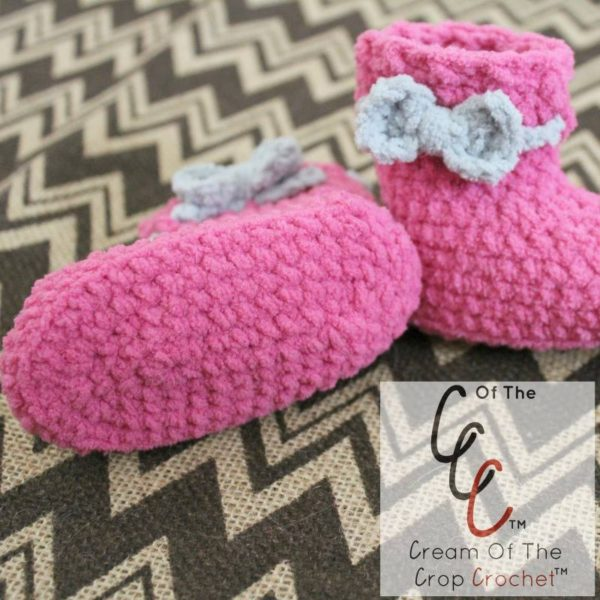 Newborn Baby Booties by Cream Of The Crop Crochet