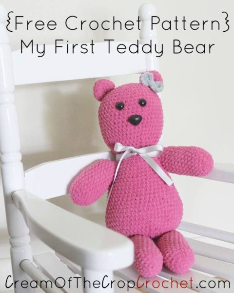 My First Teddy Amigurumi by Cream Of The Crop Crochet