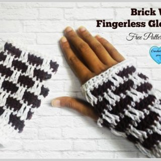 Brick Wall Fingerless Gloves by Crochet For You