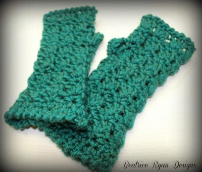Amazing Grace Fingerless Gloves by Beatrice Ryan Designs
