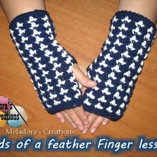 Birds of a Feather Fingerless Gloves by Meladora's Creations