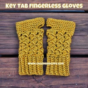 Key Tab Fingerless Gloves by Calleigh's Clips and Crochet Creations