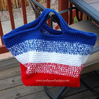 Big Stripe Bag by Posh Pooch Designs