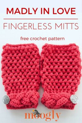 Madly In Love Mitts by Moogly