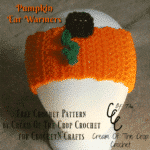 Pumpkin Ear Warmers by Cream Of The Crop Crochet