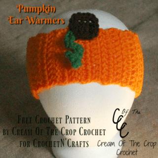 Pumpkin Ear Warmers ~ FREE Crochet Pattern by Cream Of The Crop Crochet