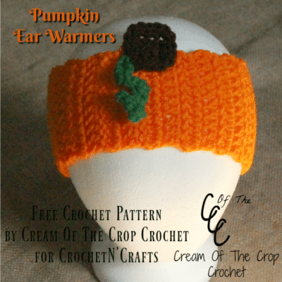Pumpkin Ear Warmers ~ FREE Crochet Pattern by Cream Of The Crop Crochet