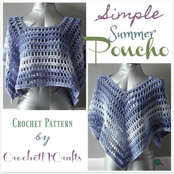 Simple Summer Poncho CrochetN'Crafts Inspiration Crochet Poncho Pattern