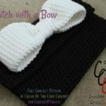 Clutch with a Bow by Cream Of The Crop Crochet