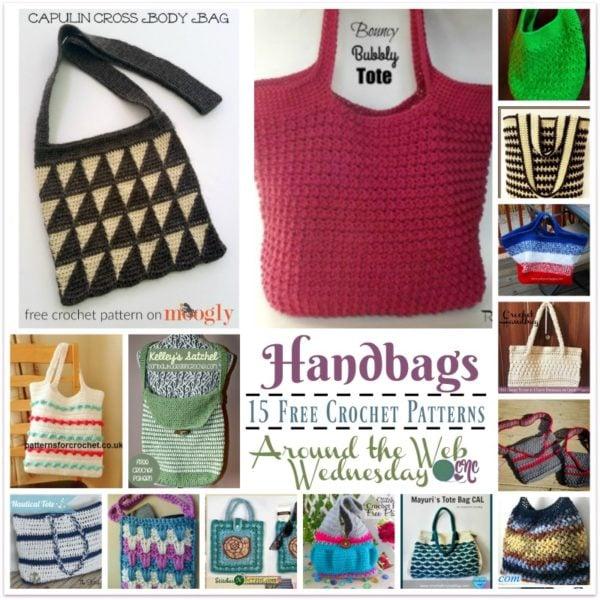 Crochet Handbags ~ 15 FREE Crochet Patterns