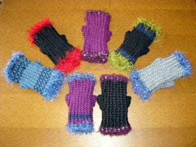 Ribbed Fingerless Mitts by Stitches 'N' Scraps