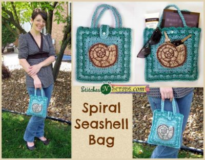 Spiral Seashell Bag by Stitches N Scraps