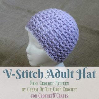 V-Stitch Hat ~ FREE Crochet Pattern by Cream Of The Crop Crochet