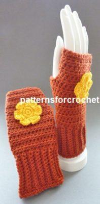 Fingerless Gloves by Patterns For Crochet