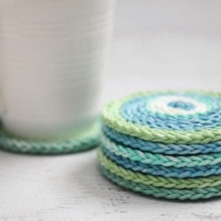 Chain Stitch Coasters by Repeat Crafter Me