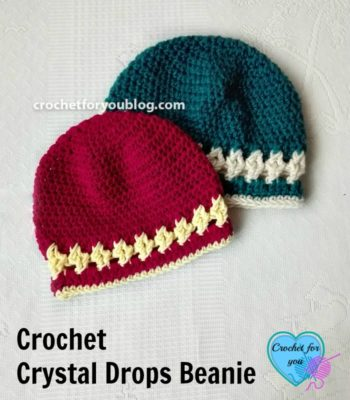 Crystal Drops Beanie by Crochet For You