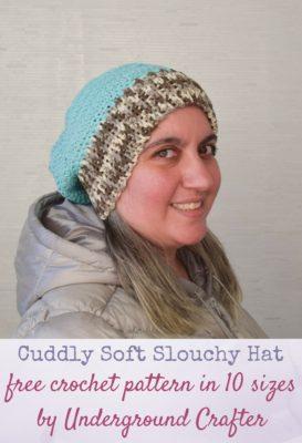 Cuddly Soft Slouchy Hat by Underground Crafter