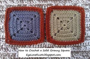 Solid Granny Square by EyeLoveKnots