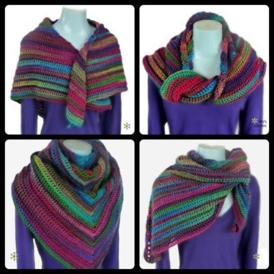 Lily's Rose Garden Shawl by Simply Collectible