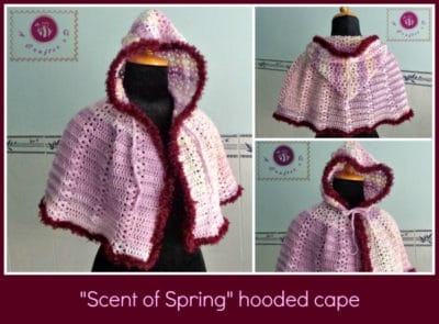 Scent of Spring Hooded Cape by Maz Kwok's Designs