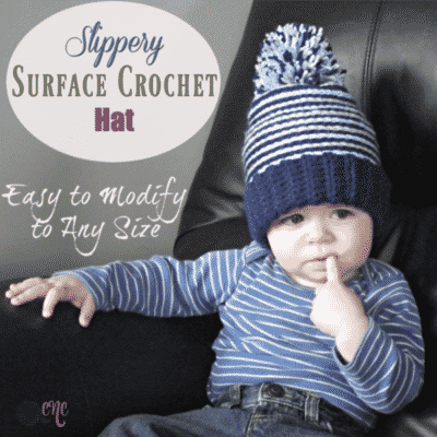 Slippery Surface Crochet Hat by CrochetN'Crafts