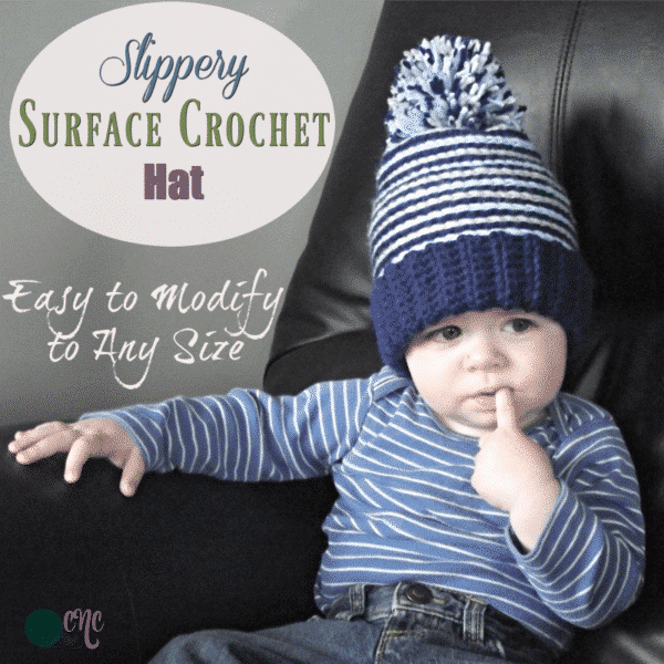 Slippery Surface Crochet Hat ~ FREE Crochet Pattern