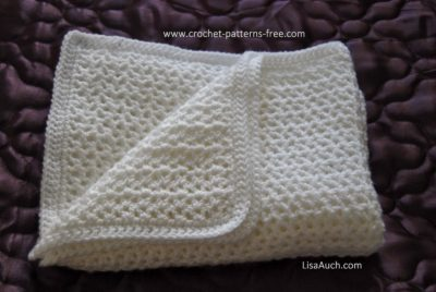 Easy V-Stitch Baby Afghan by LisaAuch