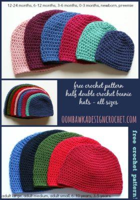 Half Double Crochet Basic Beanie by Oombawka Design