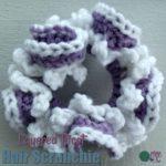 Layered Picot Hair Scrunchie ~ FREE Crochet Pattern