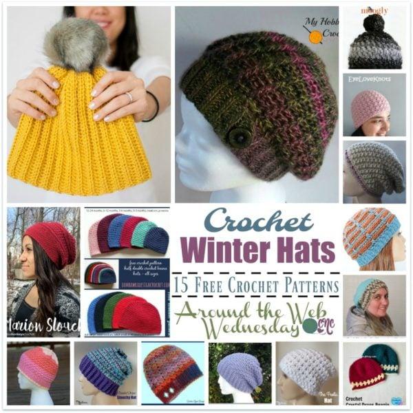 Crochet Winter Hats 15 Free Crochet Patterns Crochetncrafts