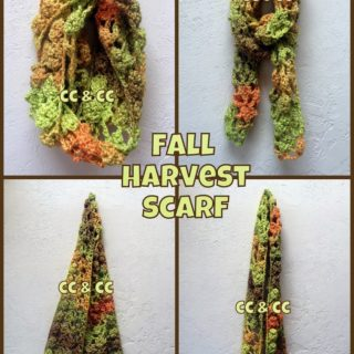 Fall Harvest Infinity Scarf by Calleigh's Clips and Crochet Creations